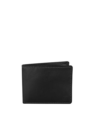 Swiss Wenger Boxed Leather Wallet with Coin Pocket-BLACK-One Size