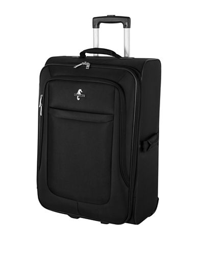 Atlantic Debut 24-Inch Softside Upright Luggage-BLACK-24