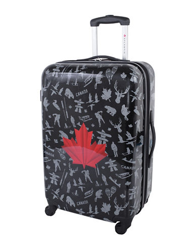 Atlantic Red Leaf 24-Inch Hardside Upright Spinner Luggage AL43474-BLACK-24