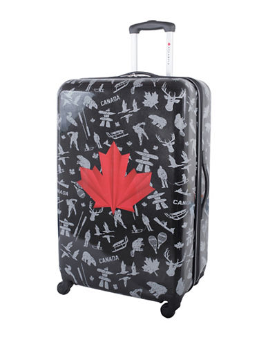 Atlantic Red Leaf 28-Inch Hardside Upright Spinner Luggage AL43478-BLACK-28