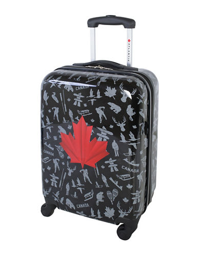 Atlantic Red Leaf 20-Inch Hardside Carry-On Spinner Luggage AL43469-BLACK-20
