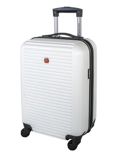 Swiss Gear Platthorn 19-Inch Hardside Spinner Suitcase-WHITE-19