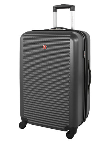 Swiss Gear Platthorn 24-Inch Hardside Spinner Suitcase-CHARCOAL-24
