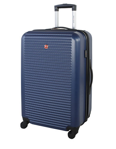 Swiss Gear Platthorn 24-Inch Hardside Spinner Suitcase-BLUE-24