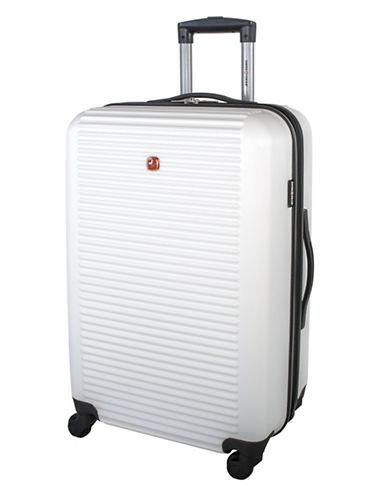 Swiss Gear Platthorn 24-Inch Hardside Spinner Suitcase-WHITE-24