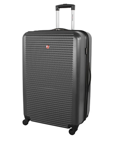 Swiss Gear Platthorn 28-Inch Hardside Spinner Suitcase-CHARCOAL-28