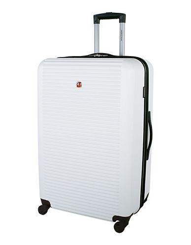 Swiss Gear Platthorn 28-Inch Hardside Spinner Suitcase-WHITE-28
