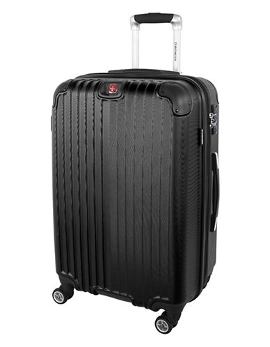 Swiss Wenger St. Moritz 2 Collection 24 Expandable Upright Hardside Spinner-BLACK-24