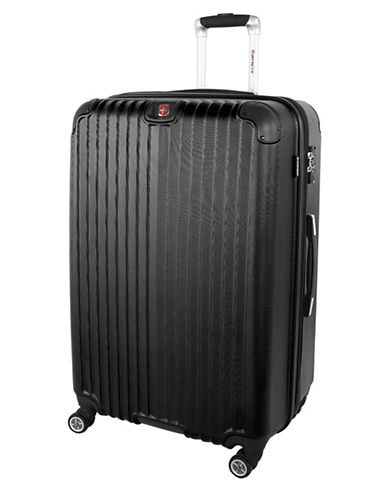 Swiss Wenger St. Moritz 2 Collection 28 Expandable Upright Hardside Spinner-BLACK-28