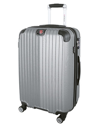 Swiss Wenger St. Moritz 2 Collection 24 Expandable Upright Hardside Spinner-SILVER-24