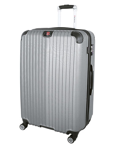 Swiss Wenger St. Moritz 2 Collection 28 Expandable Upright Hardside Spinner-SILVER-28