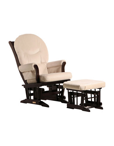 Dutailier Dutailier Sleigh Glider and Ottoman Combo-BROWN-One Size