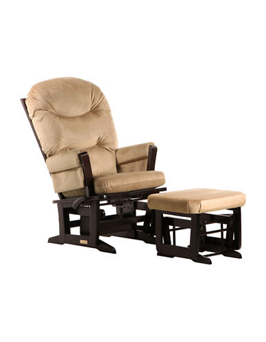 Dutailier Modern Glider Multiposition Recline and Ottoman-BROWN-One Size