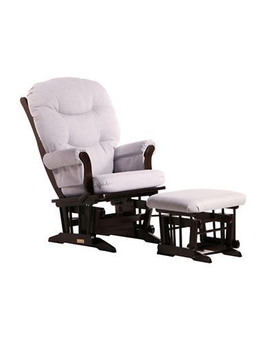 Dutailier Sleigh Glider Multiposition Recline and Nursing Ottoman-BROWN-One Size