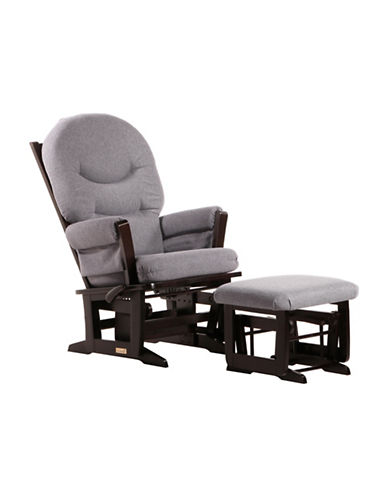 Dutailier Modern Glider Multiposition Recline and Nursing Ottoman-BROWN-One Size
