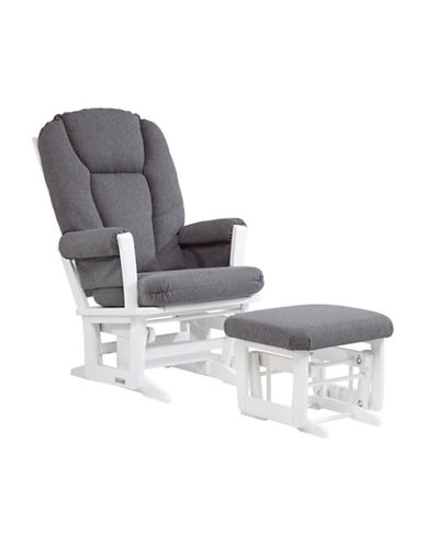 Dutailier Sleigh Glider Multiposition Recline and Ottoman-WHITE-One Size