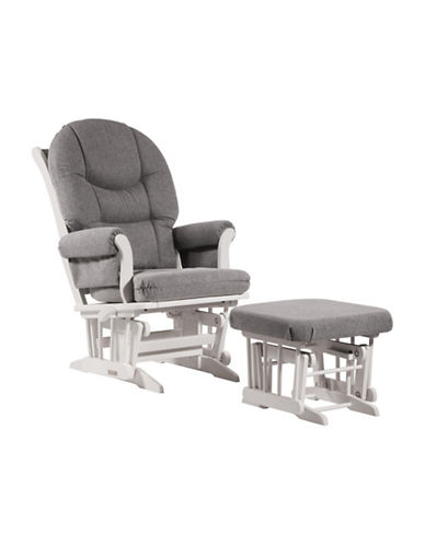 Dutailier Sleigh Glider Multiposition Recline and Nursing Ottoman-GREY-One Size