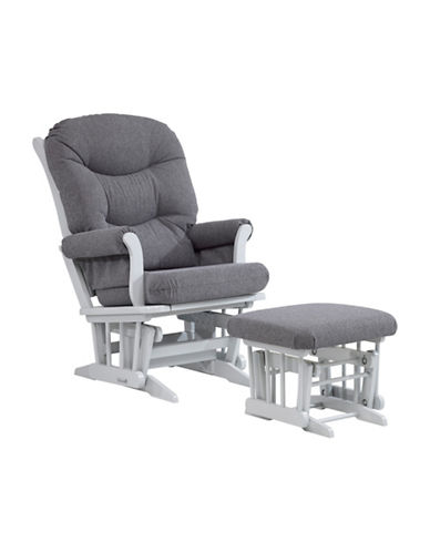 Dutailier Sleigh Glider and Ottoman-GREY-One Size