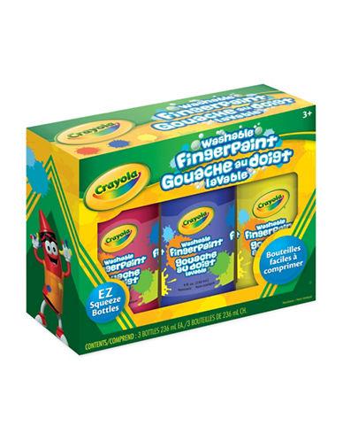 Crayola Three-Bottle Washable Fingerpaint Set-MULTI-One Size