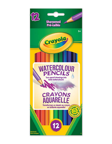 Crayola 12-Pack Watercolour Pencils-MULTI-One Size