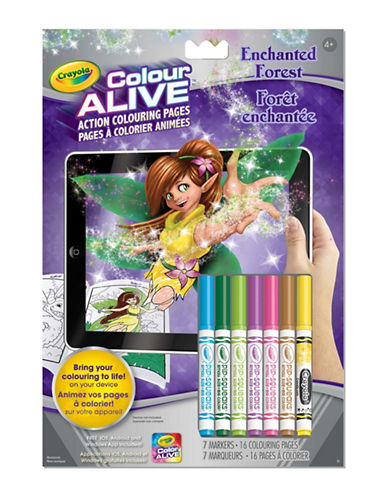 Crayola Colour Alive Enchanted Forest-MULTI-One Size