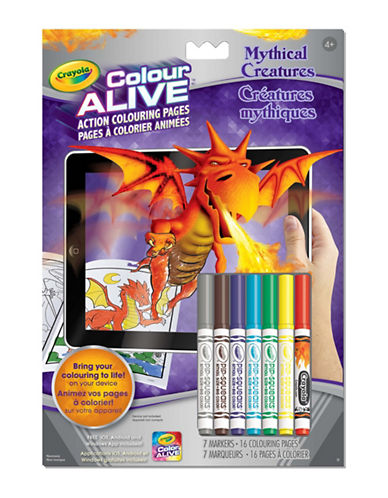 Crayola Mythical Creatures Colour Alive Book-MULTI-One Size