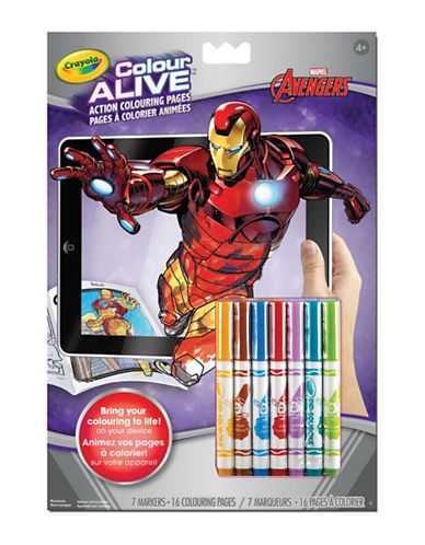 Crayola Avengers Colour Alive Book-MULTI-One Size