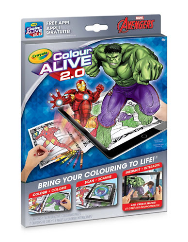 Crayola Colour Alive 2.0 Avengers-ASSORTED-One Size