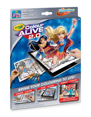 Crayola Colour Alive 2.0 Superhero Girls-MULTI-One Size