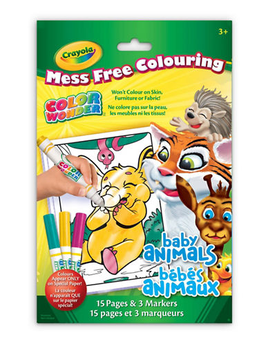 Crayola Animals Colour Wonder Mini Pad-MULTI-One Size