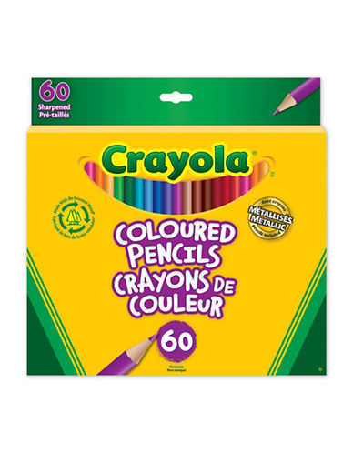 Crayola Coloured Pencils, 60 Ct-MULTI-One Size