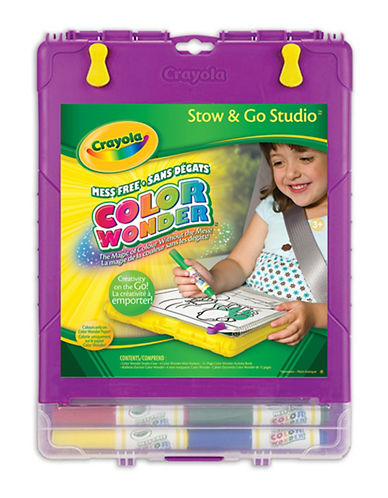 Crayola Colour Wonder Stow and Go Studio-MULTI-One Size