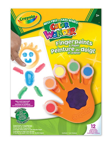 Crayola Colour Wonder Fingerpaint and Paper-MULTI-One Size