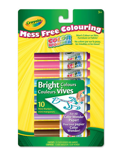 Crayola 10-Piece Colour Wonder Bright Markers-MULTI-One Size
