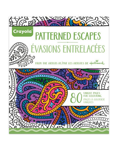 Crayola Aged Up Patterned Adult Colouring Book-MULTI-One Size