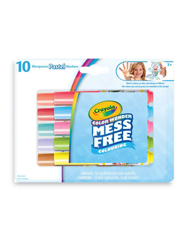 Crayola Colour Wonder Mini Pastel Markers-ASSORTED-One Size