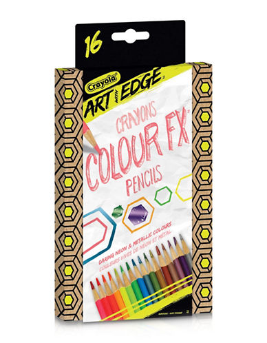 Crayola 16-Piece Art With Edge Pencils-MULTI-COLOURED-One Size