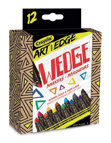 Crayola Art With Edge 12-Piece Wedge Mark-MULTI-COLOURED-One Size