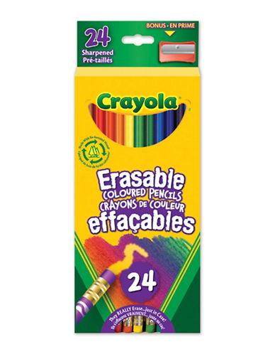 Crayola 24-Piece Erasable Coloured Pencils-MULTI-One Size