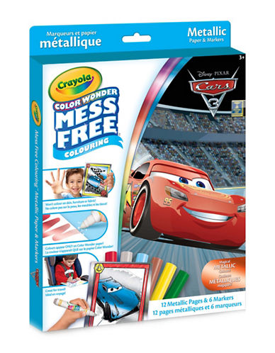 Crayola Cars Colour Wonder Metallic Kit-MULTI-One Size