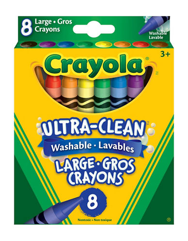 Crayola Eight-Piece Large Washable Crayon Set-MULTI-One Size