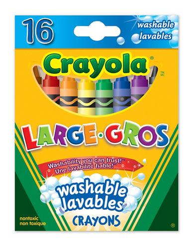 Crayola 16-Piece Large Washable Crayon Set-MULTI-One Size