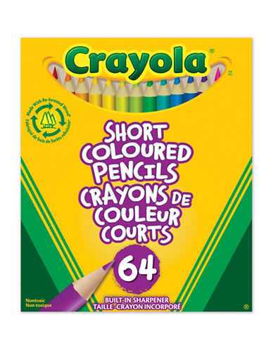 Crayola 64-Piece Short Coloured Pencils-MULTI-One Size