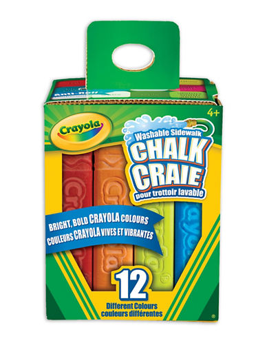 Crayola 12-Piece Chalk Set-MULTI-One Size