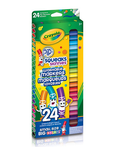 Crayola 24-Piece Fine Line Pip-Squeaks Markers-MULTI-One Size