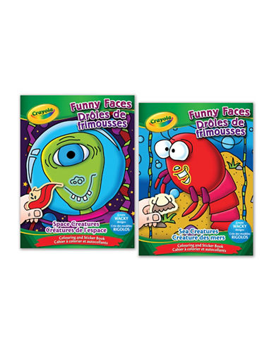 Crayola Funny Faces Colouring Book-MULTI-One Size
