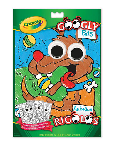 Crayola Googly Pets Colouring Pad-MULTI-One Size