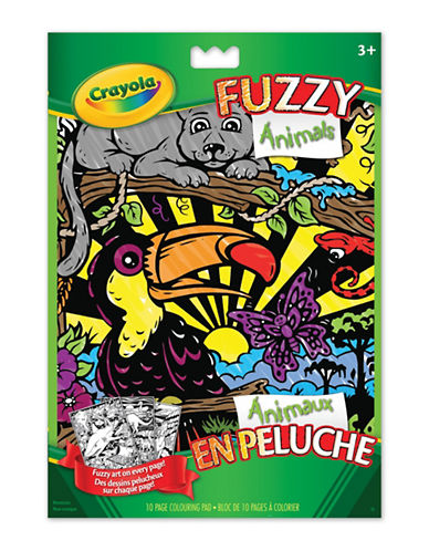 Crayola Fuzzy Colouring Book-MULTI-One Size