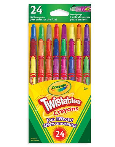 Crayola 24-Piece Mini Twistables Fun FX Crayon Set-MULTI-One Size