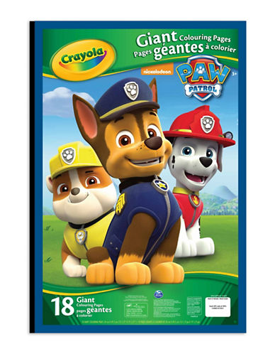 Crayola Paw Patrol Giant Colouring Pages-MULTI-One Size